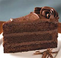 dessert old fashioned triple chocolate cake