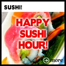 home ad happy sushi hour